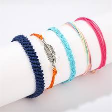 10 <b>Pcs</b>/Set Women&#39;s Fashion Geometry <b>Braided</b> Rope Bracelet ...
