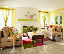and even real flowers on the table all signal that spring has sprung carpet tiles create a small area rug and tie this area to the main living room bhg living rooms yellow