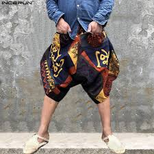 Indian Pants Men Aladiin Retro Cross Pants <b>Hiphop Harem Pant</b> ...