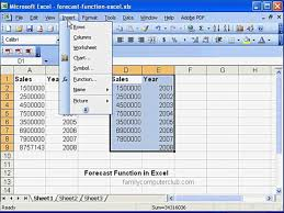 forecast function in ms excel forecast function in ms excel