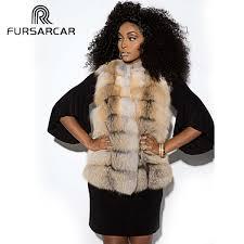 2019 <b>FURSARCAR</b> 2019 <b>New Winter Real</b> Fox Fur Vest Women ...