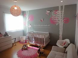 perfect finishing modern baby girl nursery marvelous designing room gray color sticker wooden material baby nursery girl nursery ideas modern
