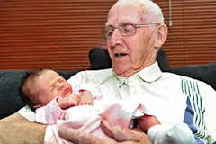 Frank Clough, from Telford, and his great-granddaughter Abigail Smith, who was born on his 90th birthday. Picture: Peter Shah - 31307509.thumb