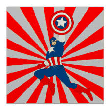 "Холст 30x30 ""Captain America"" #430017 от Just kidding - <b>Printio</b>"