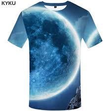 <b>KYKU Brand</b> Wolf <b>T</b> Shirt <b>Galaxy T</b> Shirt Animal Clothing Tops Tees ...