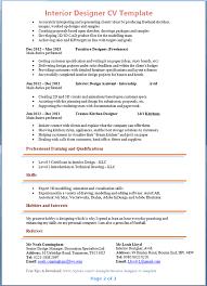 interior designer cv template   tips and download – cv plazainterior designer cv template