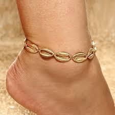 <b>Seashell</b> Design <b>Gold Metal</b> Anklet for Lady | Rosewe.com - USD ...