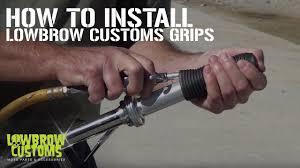 Basic <b>Motorcycle Handlebar Grip</b> Info and Install - YouTube