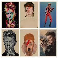 David Bowie <b>retro</b> Poster <b>Retro Kraft</b> Paper Bar Cafe Home Decor ...