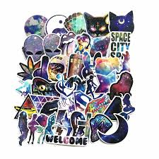 <b>42Pcs</b>/<b>Lot</b> New Waterproof Galaxy Colar <b>Funny</b> Laptop Sticker For ...