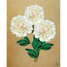 "11 in. x 14 in. ""<b>Big</b> White Carnation - Tan Paper"" <b>Metal Wall</b> Art Print"