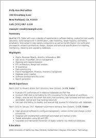 entry level qa resumes   zimku resume   the appetizer jr tester resume s lewesmr