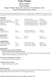 Imagerackus Nice Basic Resume Template Timeless Design For Excel Pdf And Word With Excellent Acting Resume Get Inspired with imagerack us