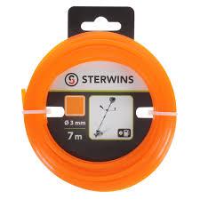 <b>Леска для триммера</b> Sterwins 3 мм х 7 м, квадратная, цвет ...