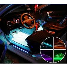 car styling interior ambient lighting atmosphere lamp light musical decorative led lights for vw polo golf4 car mood lighting