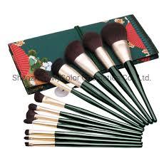China <b>Retro</b> Style Goat Hair <b>Beauty Brush</b> Set Powder Foundation ...