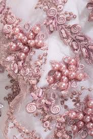 <b>1 yard 3D</b> Dusty rose pearl lace, 3D Embroidery lace fabric 3D ...