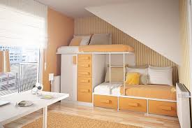orange furniture in small bedroom under stairs arranging teenage bedroom furniture to fit with the teens arranging bedroom furniture