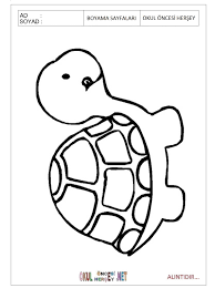 Small Picture Download printable Turtle coloring pages for preschool Preschool