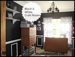 dining room turned black and white craft room craft rooms home decor another awesome craft room