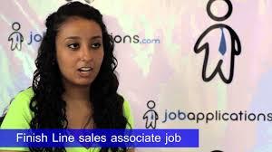 finish line s representative job description salary