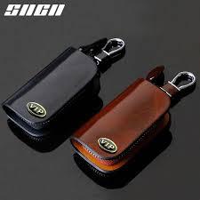 <b>SNCN</b> Genuine <b>Leather Car Key</b> Case For VW Golf Bora Jetta Polo ...