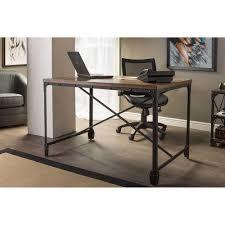 baxton studio greyson vintage industrial antique bronze wood home office desk antique home office desk