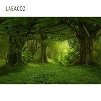 <b>Laeacco</b> Forest <b>Backdrops</b> Green Jungle Tree Grass Mystery Way ...