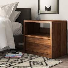 Mercury Row® Posner <b>1</b> - Drawer <b>Nightstand</b> & Reviews | Wayfair