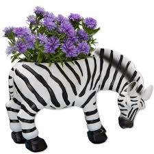 patio furniture diggu amazoncom bits and pieces indoor outdoor zebra planter whimsical wildl