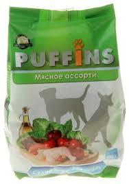 Корм для <b>собак Puffins</b> Сухой корм для <b>собак</b> Мясное ассорти ...