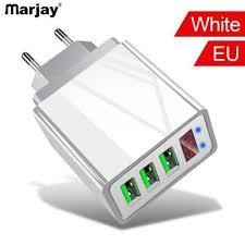 <b>Marjay 3.1A5V UK EU</b> US USB Travel Plug 3Ports LCD Intelligent ...