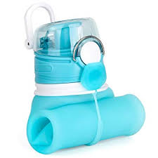 Valourgo <b>Collapsible Water Bottle</b> - <b>Silicone Foldable</b> with Leak ...