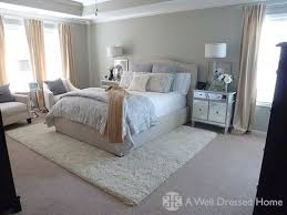 i love all the bedding choices and the rug over carpet bedroomknockout carpet basement family room