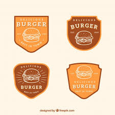 Free Vector | Several <b>burger</b> logos in <b>retro style</b>