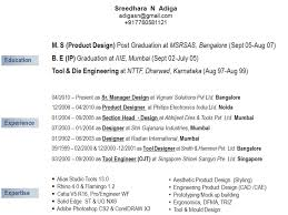 product design industrial projects by sreedhara adiga at resume education experience expertise