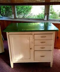 Apt Kitchen Old Hoosier Porcelain Enamel Top Bakers Table Wood Apt Kitchen