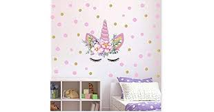 Magic <b>Cartoon Unicorn Color Wall</b> Stickers For Girls Bedroom ...