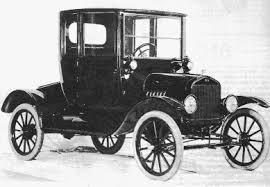 Henry Ford's Model T car in black