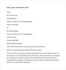 free download early lease termination letter early lease termination letter template