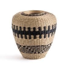 <b>Ваза декоративная</b> из гербария и бамбука, plooming экрю ...