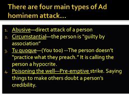 Image result for ad hominem