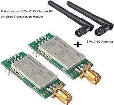 MakerFocus 2pcs <b>nRF24L01P</b>+PA+LNA <b>RF</b> Wireless Transmission ...