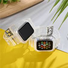 Suitable for iwatch <b>strap</b> apple <b>watch</b> integrated protective shell ...