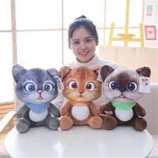 Buy <b>New Cute Kids</b> Doll Soft 3D Simulation Stuffed Cat Toys Sofa ...