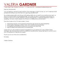 best assistant store manager cover letter examples livecareer edit