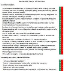 Medical Office Manager Job Description | resumeseed.com ... Manager Job Description; medical administrative assistant job description ...