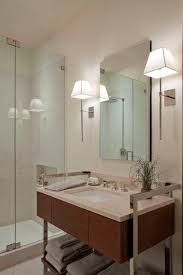 nickel bathroom sconces creating light bathroom lighting sconces contemporary