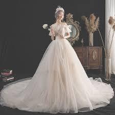 Charming <b>Champagne Wedding</b> Dresses 2019 A-Line / <b>Princess</b> ...