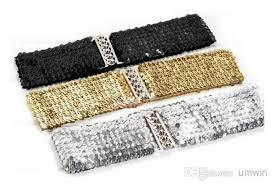 52cm x 7cm L x W <b>Women Glitter Sequin</b> Elasticated Belt with   Etsy